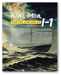 WWII History - Kiwi, Moa, and the Sinking of I-1